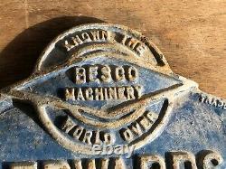 Original Vintage Cast Iron Sign F. J Edwards Ltd London Nw1