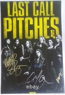 PITCH PERFECT 3 SIGNED CAST MOVIE POSTER 12x18 ANNA KENDRICK 7 AUTO PHOTO PROOF