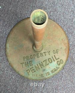 Pennzoil Cast Iron Sign Base Original Motor Oil Gas Station Lollipop