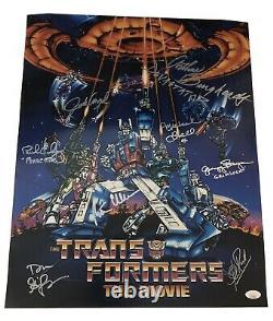 Peter Cullen +7 Signed Cast Transformers The Movie 16x20 Authentic Auto JSA COA