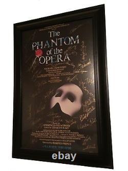 Phantom of The Opera Original Broadway Cast SIGNED 14x22 Window Card 11/200