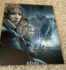 Prometheus Cast Signed Michael Fassbender Charlize Theron Noomi Rapace COA 8x10