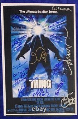 RARE! THE THING Cast Signed Display By 18! WithEnnio Morricone & John Carpenter