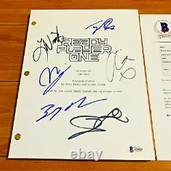 READY PLAYER ONE SIGNED MOVIE SCRIPT BY 6 CAST MEMBERS with BAS COA OLIVA COOKE