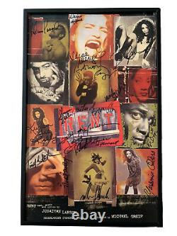 RENT OBC Original Broadway Cast SIGNED 14x22 Window Card Idina Menzel COA