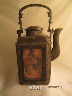 Rare Asian Antique Japanese Cast Iron Teapot/ Tea Kettle