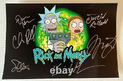 Rick and Morty cast signed autographed 8x12 photo Chris Parnell Harmon Roiland
