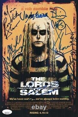 Rob Zombie LORDS OF SALEM CAST X12 Signed 8x12 PHOTO Autograph JSA LOA COA Cert
