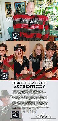 Robert Englund Freddy Krueger Cast Autographed Nightmare Elm Sweater ASI Proof