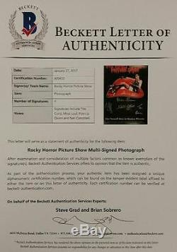 Rocky Horror Picture Show cast signed 11x17 Movie Poster Photo Beckett BAS COA