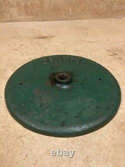 Round Conoco Cast Iron Sign Base Original Paint Lollipop Weight Gas Oil