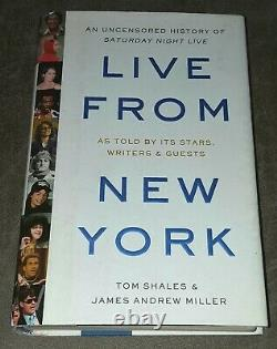 SATURDAY NIGHT LIVE CAST SIGNED BOOK LIVE FROM NEW YORK SNL 9 AUTOGRAPHS 1st Ed