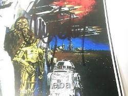 STAR WARS 3 CAST SIGNED AUTOGRAPHED MOVIE POSTER 11x17 WITH COA