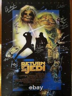 STAR WARS Cast SIGNED Autograph Poster Return Jedi Prowse Daniels Mandalorian ++