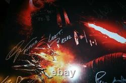 STAR WARS THE FORCE AWAKENS CAST SIGNED 27x40 MOVIE POSTER CA COA 19 Signatures