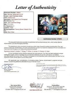 STEVE DASH KANE HODDER TED WHITE signed 12x18 Photo JASON VOORHEES Cast JSA