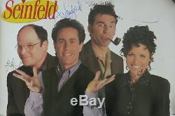 Seinfeld Cast (4) Signed Authentic Autographed 24x36 Poster PSA/DNA #X02494
