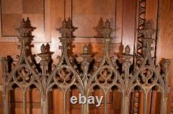 Signed French Antique Cast Iron Gothic Fence Muel et Wahl Foundry de Tusey