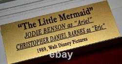 Signed LITTLE MERMAID Cast Autograph, COA, UACC FRAME, Blu DVD, JODI BENSON