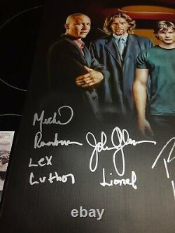 Smallville Tom Welling Erica Durance Signed Cast 16x20 Custom Canvas JSA GG35587