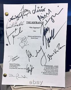 Sopranos Cast Signed Script-james Gandolfini-falco-sirico-van Zandt-imperioli+7