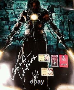 Stan Lee & Mickey Rourke 27x40 Poster PROOF CA COA Signed Iron Man Cast PSA JSA