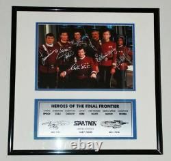Star Trek Cast Photo Autographed Framed Paramount Studios Hollywood Posters