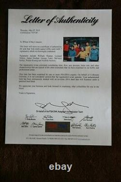 Star Trek Cast Signed Autographed Signed Photo By 7 PSA Authenticated