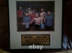 Star Trek Original Cast Autographed Photo and Limited Edition Plaque with COA