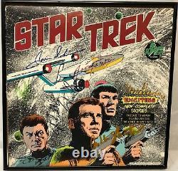 Star Trek TOS (7) SHATNER, NIMOY, KELLEY, DOOHAN Cast-Signed Vinyl LP withCoA