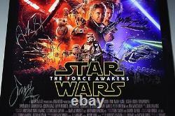 Star Wars Cast Signed Movie Poster STAR WARS EPISODE VII THE FORCE AWAKENS COA