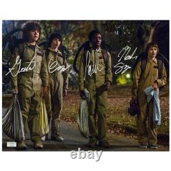 Stranger Things Cast Autographed Stranger Things Halloween 11x14 Photo