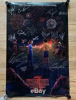 Stranger Things cast signed autographed 34x22 poster Millie Bobby Brown Ryder