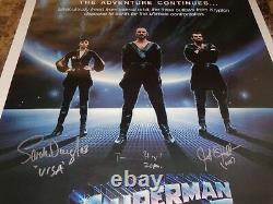 Superman II Cast Signed 1-Sheet Movie Poster Terence Stamp Sarah Douglas Jack +