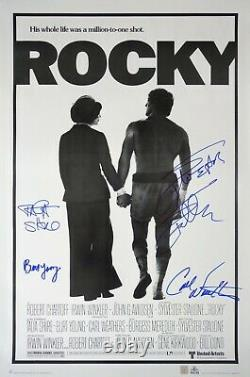 Sylvester Stallone & Cast Autographed ROCKY 24x36 Movie Poster ASI Proof