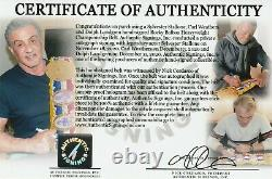 Sylvester Stallone & Cast Autographed ROCKY BALBOA Championship Belt ASI Proof
