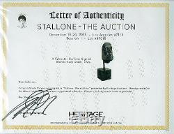 THE BALBOA Sylvester Stallone Signed Autographed Bronze Face Mold Rocky 1975 COA