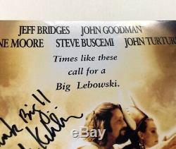 THE BIG LEBOWSKI Cast Signed 11x17 Movie Poster Photo PSA COA LOA Jeff Bridges