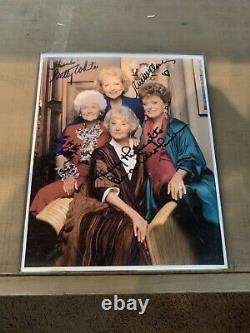 THE GOLDEN GIRLS Cast Signed Autographed Photo withCOA