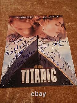 TITANIC Cast Signed Souvenir Program with COA Cameron Bates Paxton Amis Stuart