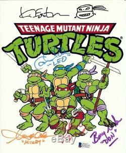 Teenage Mutant Ninja Turtles Cast Signed 8X10 Photo 5 Autos withEastman Beckett