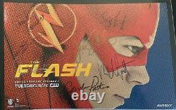 The Flash Cast Signed x7 Autograph Poster Photo Grant Gustin Candice Patton SDCC