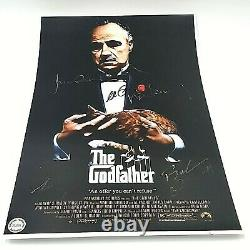 The Godfather Cast Hand Signed Al Pacino +4 Autographed 11X17 Movie Poster COA