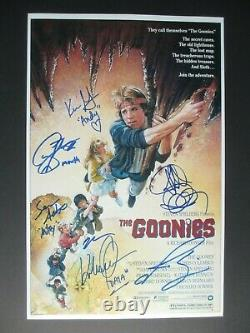 The Goonies Cast Signed 11x17 Photo Josh Brolin Sean Austin +7 Dc/coa (rare)