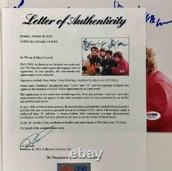 The Goonies cast signed 8x10 photo PSA COA LOA Jeff Cohen Astin Feldman Ke Quan