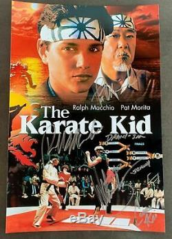 The Karate Kid cast signed autographed 8x12 photo Ralph Macchio Pat Morita Zabka