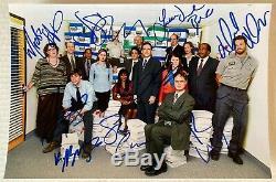 The Office cast signed autographed 8x12 photo Steve Carell Rainn Wilson Helms