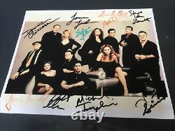 The Sopranos 10 Signature Cast Signed Autographed 8x10 Photo James Gandolfini +