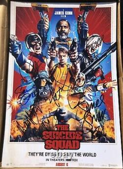 The Suicide Squad 12x cast signed Poster 12x18