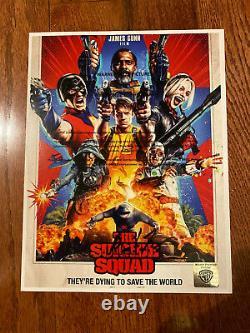 The Suicide Squad Movie Poster CAST SIGNED Premiere John Cena Margot Robbie 2021